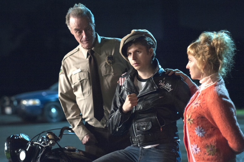 Harry Goaz, Michael Cera and Kimmy Robertson in a still from Twin Peaks. Photo: Suzanne Tenner/SHOWTIME