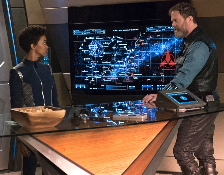 "Sonequa Martin-Green and Rainn Wilson, ""Star Trek: Discovery"""