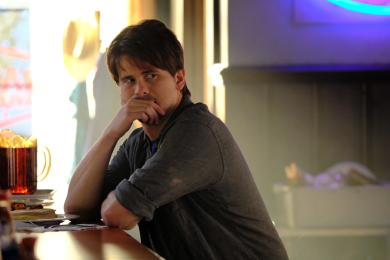 "KEVIN (PROBABLY) SAVES THE WORLD- ÒPilotÓ - Kevin Finn (Jason Ritter) is not a good person. He's not terrible, but he's selfish and clueless, and values material wealth and status over all else. And he's beginning to realize that those things aren't making him happy - in fact, he's fairly miserable. Just when things seem to be at their worst, he finds himself tasked with an unbelievable mission: saving the world. ""Kevin (Probably) Saves the World,"" a unique one-hour drama filled with hope, heart and a good dose of irreverent humor, premieres TUESDAY, OCTOBER 3 (10:00-11:00 p.m. EDT), on The ABC Television Network. (ABC/Guy D'Alema)JASON RITTER"