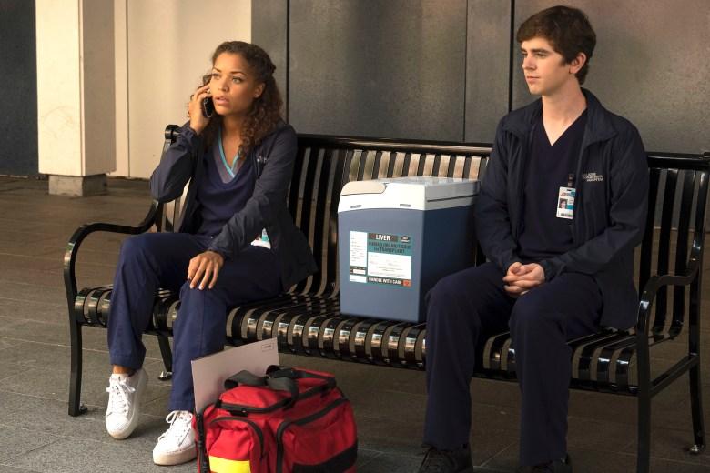 "Antonia Thomas and Freddie Highmore, ""The Good Doctor"""