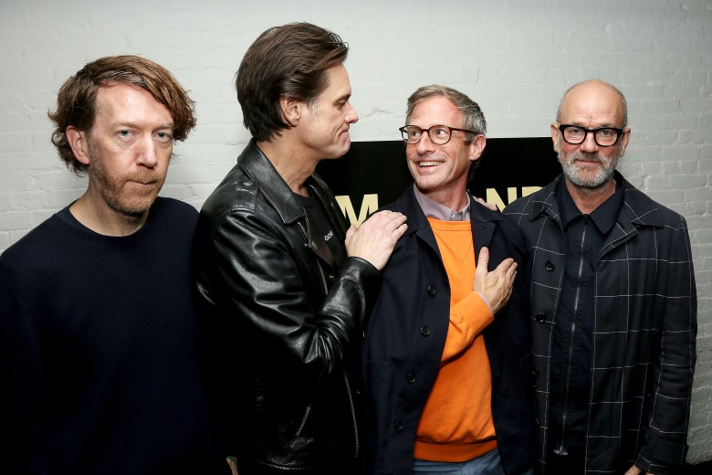 - New York, NY - 10/17/17 - Jim & Andy: The Great Beyond - Featuring a Very Special, Contractually Obligated Mention of Tony Clifton at The Museum of Modern Art-Pictured: Chris Smith (Director), Jim Carrey, Spike Jonze (Producer), Michael Stipe-Photo by: Marion Curtis / StarPix for Netflix-Location: The Museum of Modern Art