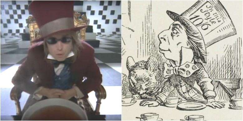 Tom Petty as the Mad Hatter