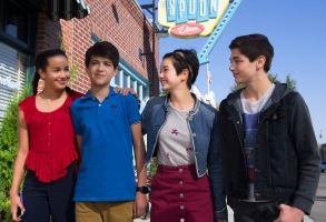 "Sofia Wylie, Joshua Rash, Peyton Elizabeth Lee, and Asher Angel, ""Andi Mack"""