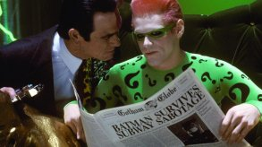 Tommy Lee Jones and Jim Carrey in Batman Forever