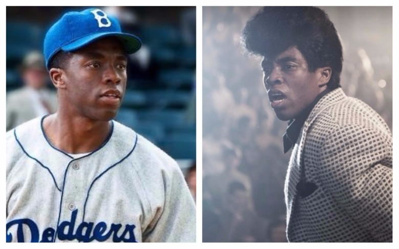 Chadwick Boseman as Jackie Robinson and James Brown