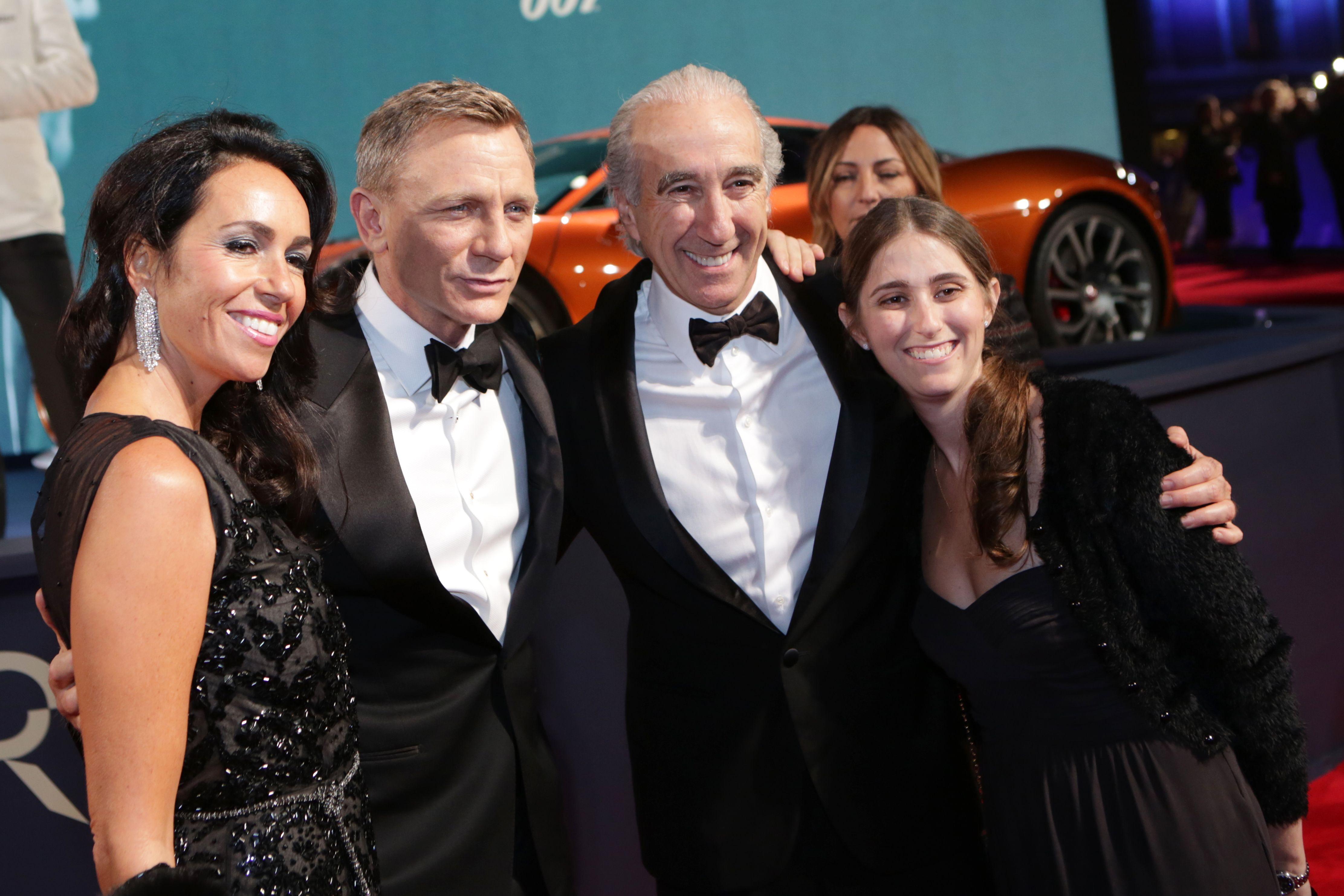 Nadine Barber, Daniel Craig, Gary Barber and guestJames Bond 'Spectre' CTBF film premiere, Royal Albert Hall, London, Britain - 26 Oct 2015