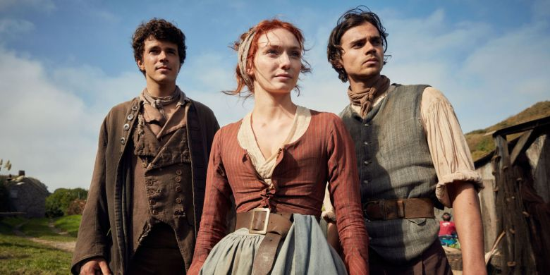"Harry Richardson, Eleanor Tomlinson, and Tom York, ""Poldark"""
