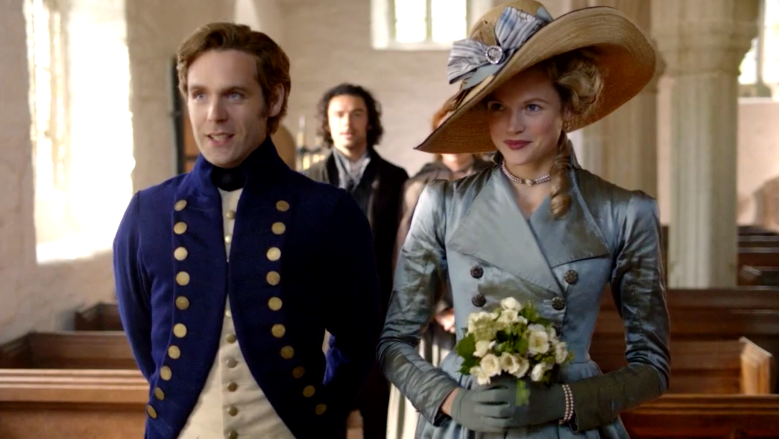 "Luke Norris and Gabriella Wilde, ""Poldark"""