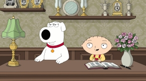 FAMILY GUY: Brian and Stewie open a bed & breakfast in the ÒThe Peter PrincipalÓ episode of FAMILY GUY airing Sunday, Apr. 30 (9:00-9:30 PM ET/PT) on FOX. FAMILY GUY ª and © 2017 TCFFC ALL RIGHTS RESERVED. CR: FOX