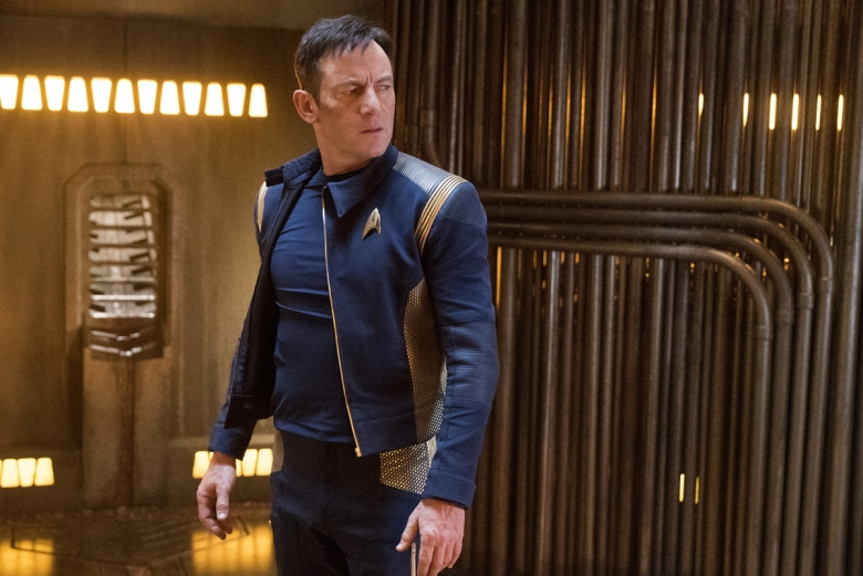 """Choose Your Pain"" -- Episode 105 -- Pictured: Jason Isaacs as Captain Gabriel Lorca of the CBS All Access series STAR TREK: DISCOVERY. Photo Cr: Michael Gibson/CBS © 2017 CBS Interactive. All Rights Reserved."