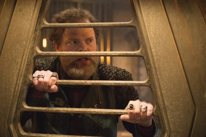 """Choose Your Pain"" -- Episode 105 -- Pictured: Rainn Wilson as Harry Mudd of the CBS All Access series STAR TREK: DISCOVERY. Photo Cr: Michael Gibson/CBS © 2017 CBS Interactive. All Rights Reserved."