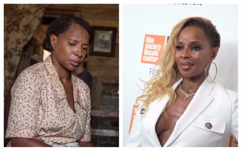 "Mary J. Blige in ""Mudbound"" and on the NYFF red carpet"