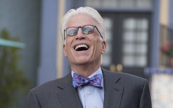 "THE GOOD PLACE -- ""Janet and Michael"" Episode 207 -- Pictured: Ted Danson as Michael -- (Photo by: Colleen Hayes/NBC)"