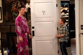 "WILL & GRACE -- ""Grandpa Jack"" Episode 105 -- Pictured: (l-r) Sean Hayes as Jack McFarland, Jet Jurgensmeyer as Skip -- (Photo by Chris Haston/NBC)"