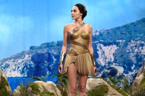 "SATURDAY NIGHT LIVE -- ""Gal Gadot"" Episode 1727 -- Pictured:  Gal Gadot as Diana during ""Themyscira"" in Studio 8H on October 7, 2017 -- (Photo by: Will Heath/NBC)"