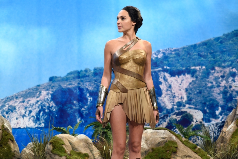 """SATURDAY NIGHT LIVE -- """"Gal Gadot"""" Episode 1727 -- Pictured:  Gal Gadot as Diana during """"Themyscira"""" in Studio 8H on October 7, 2017 -- (Photo by: Will Heath/NBC)"""