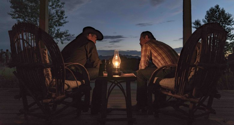 """A troubled """"Supe"""" Eric Marsh (Josh Brolin) talks with Fire Chief Duane Steinbrink (Jeff Bridges) at dawn in Columbia Pictures' ONLY THE BRAVE."""