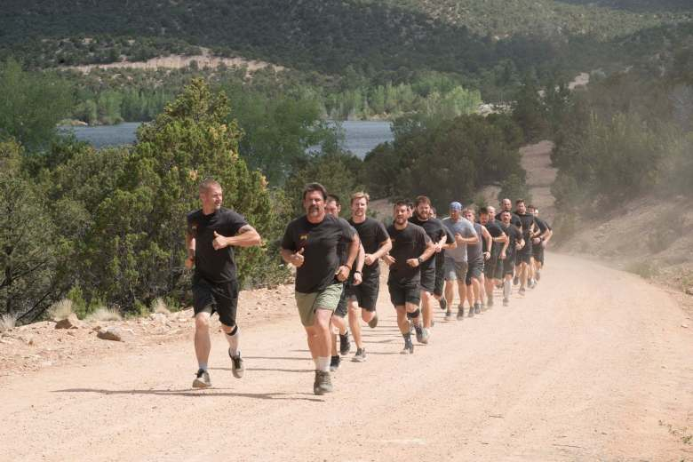 """""""Supe"""" Eric Marsh (Josh Brolin) and Jesse Steed (James Badge Dale) run the Crew 7 members training to become hotshots up the steep road from the lake in Columbia Picutres' ONLY THE BRAVE."""