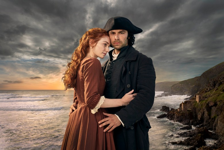 "Eleanor Tomlinson and Aidan Turner, ""Poldark"""