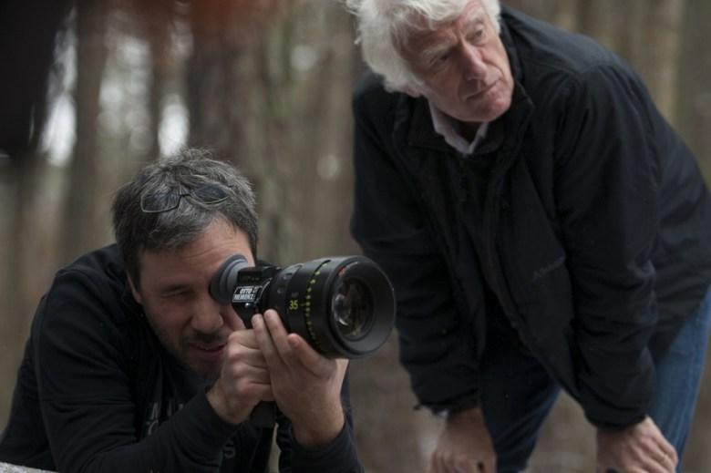 """Director Denis Villeneuve and DP Roger Deakins shooting """"Prisoners"""""""
