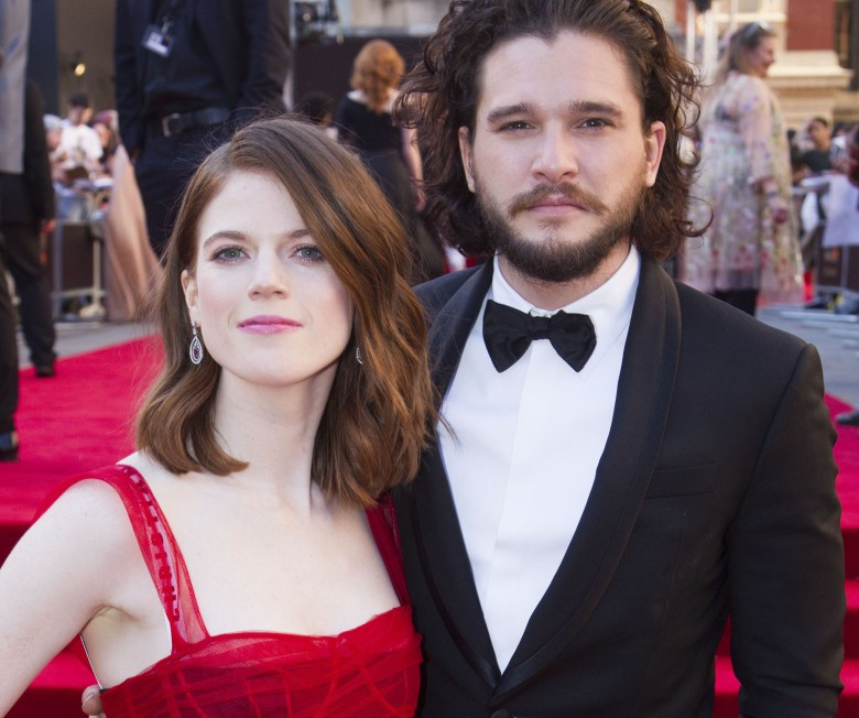 Rose Leslie and Kit Harington, the Olivier Awards