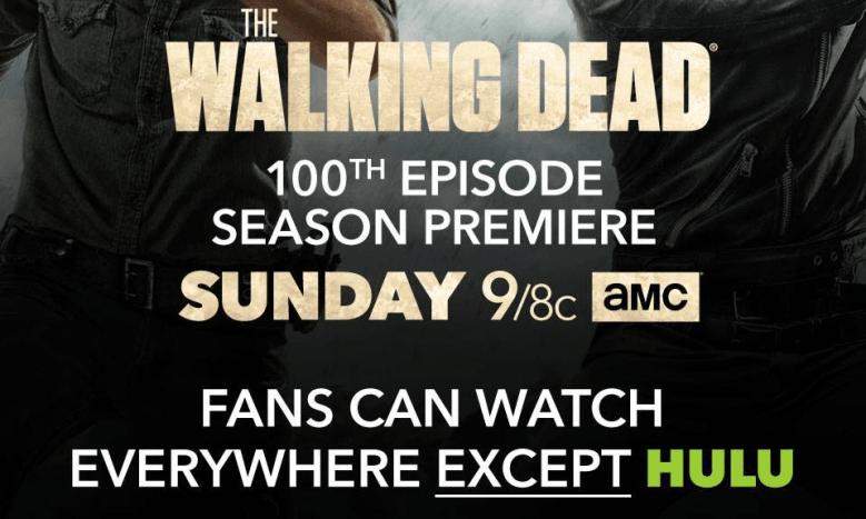 Walking Dead NOT on Hulu