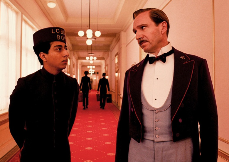 No Merchandising. Editorial Use Only. No Book Cover UsageMandatory Credit: Photo by Moviestore/REX/Shutterstock (4383171e)The Grand Budapest Hotel, Tony Revolori, Ralph Fiennes, Wes Anderson'The Grand Budapest Hotel' film - 2014