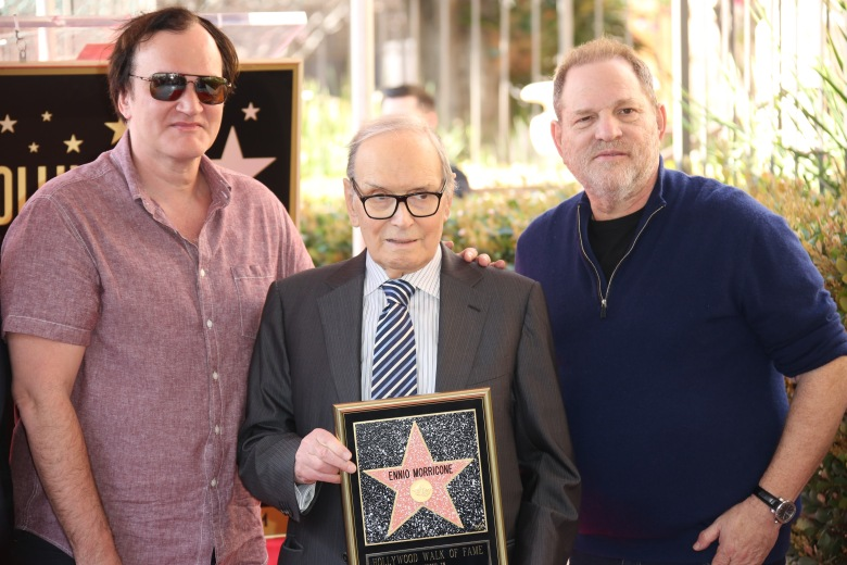 Quentin Tarantino, Ennio Morricone, Harvey WeinsteinEnnio Morricone receives a Star on the Hollywood Walk of Fame, Los Angeles, America - 26 Feb 2016