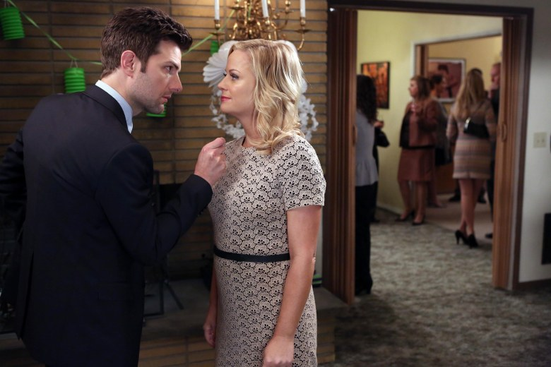 No Merchandising. Editorial Use Only. No Book Cover Usage.Mandatory Credit: Photo by NBC-TV/Kobal/REX/Shutterstock (5881897c)Adam Scott, Amy PoehlerParks and Recreation - 2008-2013NBC-TVUSATelevision