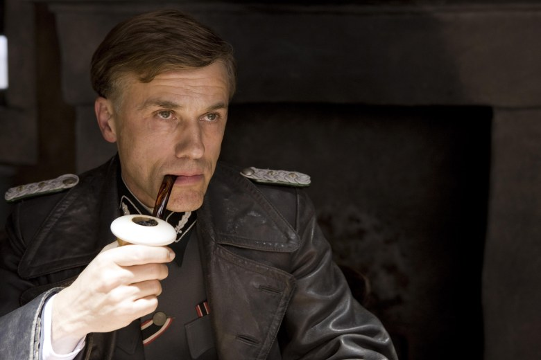 No Merchandising. Editorial Use Only. No Book Cover Usage.Mandatory Credit: Photo by Universal/Kobal/REX/Shutterstock (5886262k)Christoph WaltzInglourious Basterds - 2009Director: Quentin TarantinoUniversal PicturesUSA/GERMANYScene StillAction/AdventureInglorious Bastards / Inglorious Basterds