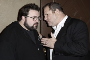 """Kevin Smith, Harvey Weinstein Kevin Smith, left, and Harvey Weinstein talk to each other at the after party for the premiere of """"Zach and Miri Make A Porno"""" in Los Angeles onPremiere Zach and Miri Make A Porno LA, Los Angeles, USA"""
