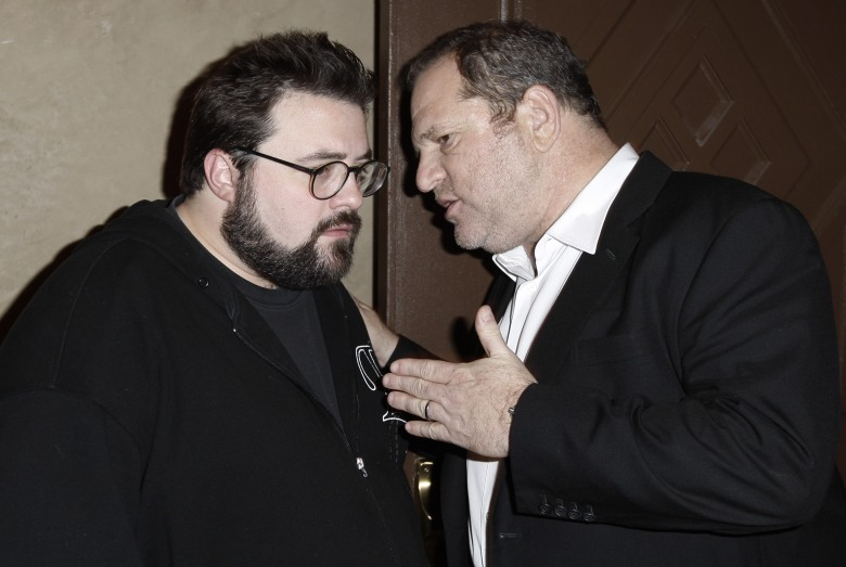 "Kevin Smith, Harvey Weinstein Kevin Smith, left, and Harvey Weinstein talk to each other at the after party for the premiere of ""Zach and Miri Make A Porno"" in Los Angeles onPremiere Zach and Miri Make A Porno LA, Los Angeles, USA"