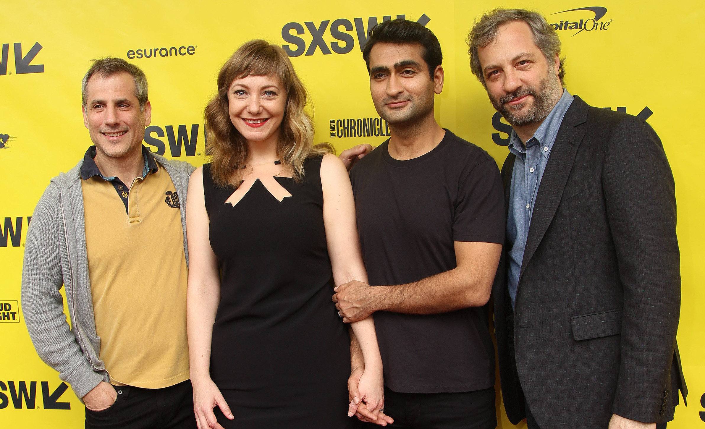 Barry Mendel, Emily V. Gordon, Kumail Nanjiani and Judd ApatowThe Big Sick film premiere, SXSW Festival, Austin, USA - 16 Mar 2017