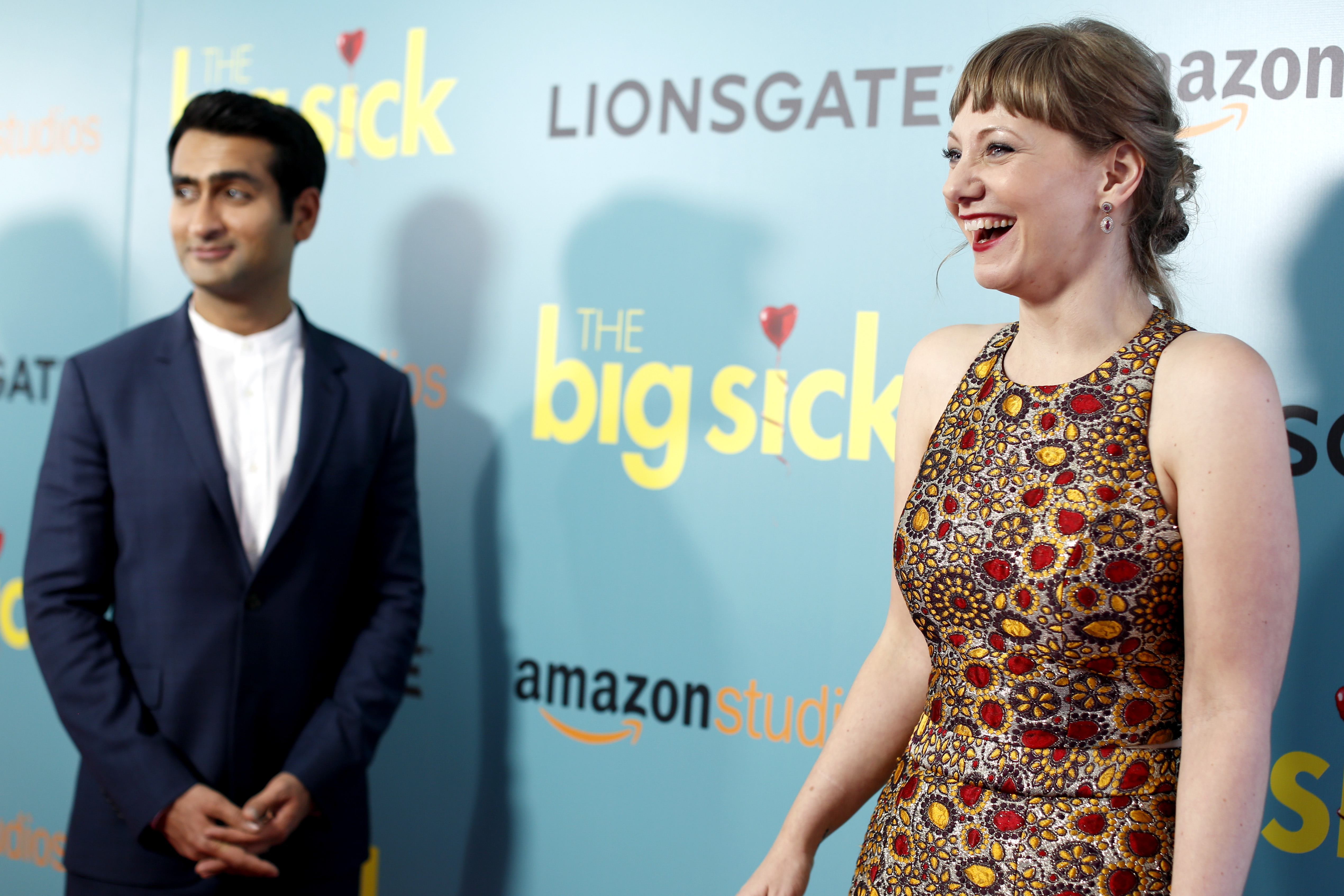 Kumail Nanjiani, Emily V. Gordon'The Big Sick' film premiere, Arrivals, New York, USA - 20 Jun 2017