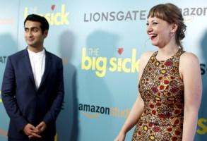 Kumail Nanjiani, Emily V. Gordon'The Big Sick' film premiere, Arrivals, New York, USA - 20 Jun 2017