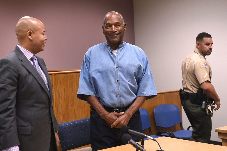O.J. SimpsonO.J. Simpson Parole Hearing, Lovelock, USA - 20 Jul 2017O.J. Simpson (C) attends his parole hearing at Lovelock Correctional Center, in Lovelock, Nevada, USA, 20 July 2017. Simpson is serving a nine to 33 year prison term for a 2007 armed robbery and kidnapping conviction.