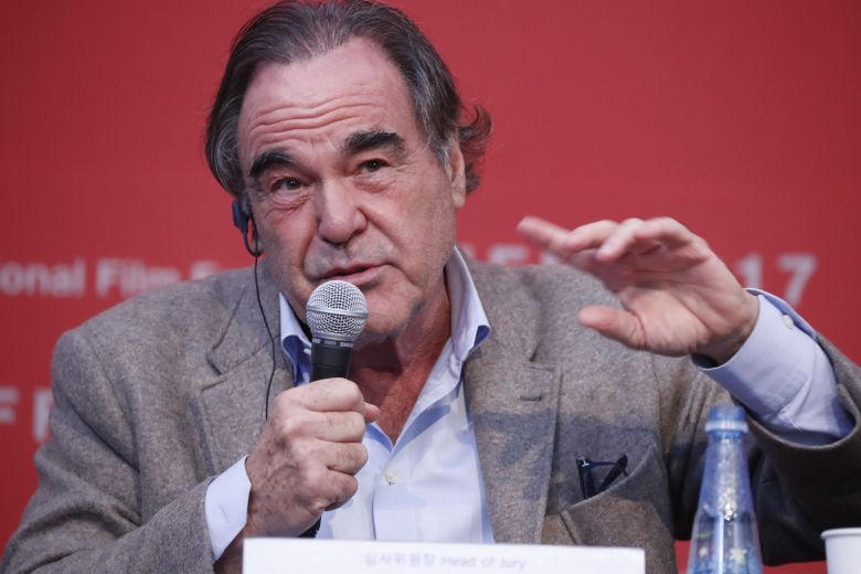 Oliver StonePress Conference for New Currents Jury - 22th Busan International Film Festival (BIFF), Korea - 13 Oct 2017US director Oliver Stone, speaks during a press conference of the New Currents Jury the 22th Busan International Film Festival (BIFF) in Busan, South Korea, 13 October 2017. The BIFF runs from 12 to 21 October 2017, with 298 films from 75 countries to be screened.