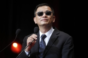 Hong Kong director Wong Kar-wai delivers a speech during the Lumiere Award ceremony of the 9th Lumiere Festival, in Lyon, central FranceLumiere Festival, Lyon, France - 20 Oct 2017