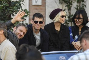 Brian J. Smith and Tuppence Middleton'Sense8' on set filming, Naples, Italy - 26 Oct 2017