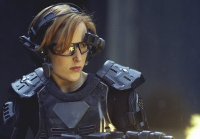 "X-FILES - SEASON 7: While investigating the murder of a teen killed while playing a virtual reality game, Agent Scully (Gillian Anderson) enters the high-tech virtual game to track down their suspect in the ""First Person Shooter"" episode of THE X-FILES airing Sunday, Feb. 27 (9:00-10:00 PM ET/PT) on FOX. ©2000 FOX BROADCASTING COMPANY CR: Larry Watson"
