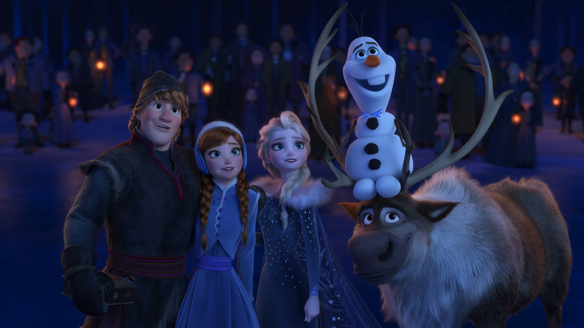 "WHEN WE'RE TOGETHER –Walt Disney Animation Studios' ""Olaf's Frozen Adventure"" features four all-new original songs, including ""When We're Together""—a song in which Kristoff, Anna, Elsa and Olaf realize that being together with loved ones is the best part of the holiday season. Featuring the voices of Jonathan Groff, Kristen Bell, Idina Menzel and Josh Gad, ""Olaf's Frozen Adventure"" opens in front of Disney•Pixar's original feature ""Coco"" in U.S. theaters on Nov. 22, 2017. ©2017 Disney. All Rights Reserved."