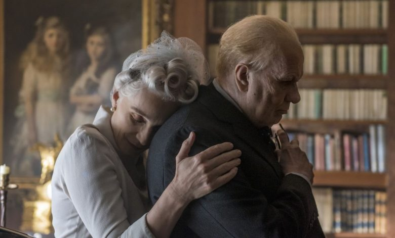 Kristin Scott Thomas and Gary Oldman star as Clementine and Winston Churchill in director Joe Wright's DARKEST HOUR, a Focus Features release.Credit: Jack English / Focus Features