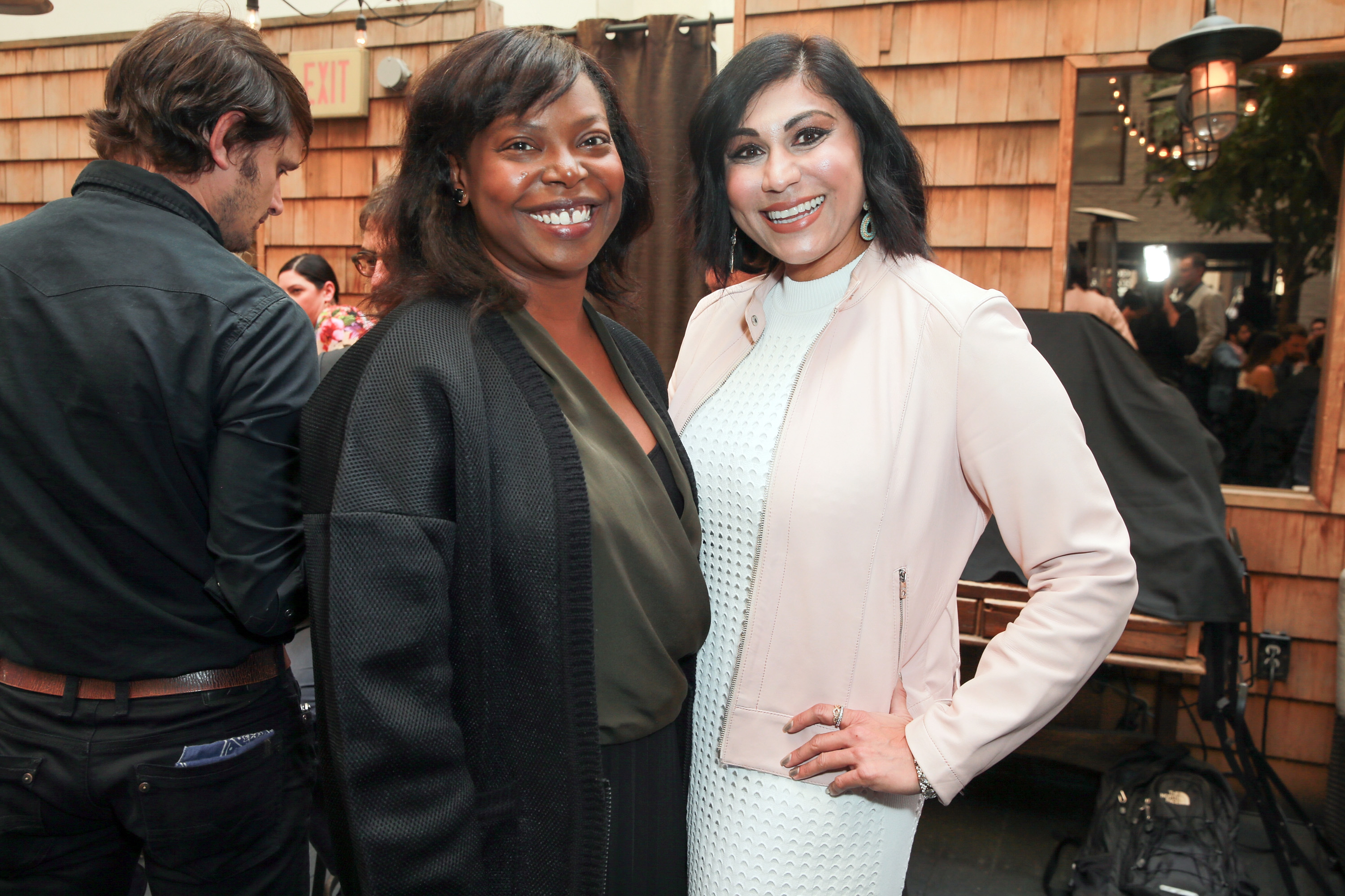 HOLLYWOOD, CA - NOVEMBER 15: AFI Fest Director Jacqueline Lyanga (L) and Hanny Patel attend DIRECTV Presents The Directors Table with A24 and IndieWire at Wood & Vine on November 15, 2017 in Hollywood, California. (Photo by Rich Fury/Getty Images for DIRECTV CINEMA)