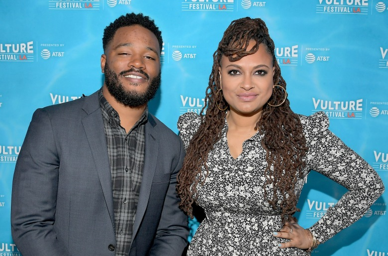 HOLLYWOOD, CA - NOVEMBER 19:  Filmmakers Ryan Coogler (L) and Ava DuVernay attend Vulture Festival LA presented by AT&T at Hollywood Roosevelt Hotel on November 19, 2017 in Hollywood, California.  (Photo by Charley Gallay/Getty Images for Vulture Festival)
