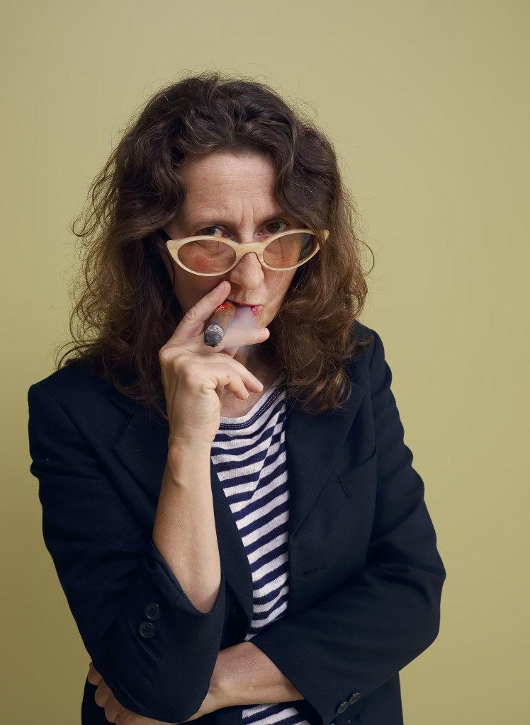 Director Lucrecia Martel smokes a cigar as she poses for portraits for the film Zama during the 74th edition of the Venice Film Festival at the Venice Lido, ItalyFilm Festival Zama Portraits, Venice, Italy - 31 Aug 2017