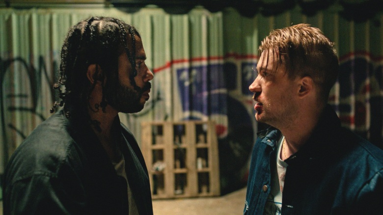 Daveed Diggs and Rafael Casal appea in <i>Blindspotting</i> by Carlos López Estrada, an official selection of the U.S. Dramatic Competition at the 2018 Sundance Film Festival. Courtesy of Sundance Institute. All photos are copyrighted and may be used by press only for the purpose of news or editorial coverage of Sundance Institute programs. Photos must be accompanied by a credit to the photographer and/or 'Courtesy of Sundance Institute.' Unauthorized use, alteration, reproduction or sale of logos and/or photos is strictly prohibited.