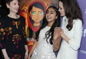 Nora Twomey, Saara Chaudry and Angelina Jolie'The Breadwinner' film premiere, Los Angeles, USA - 20 Oct 2017