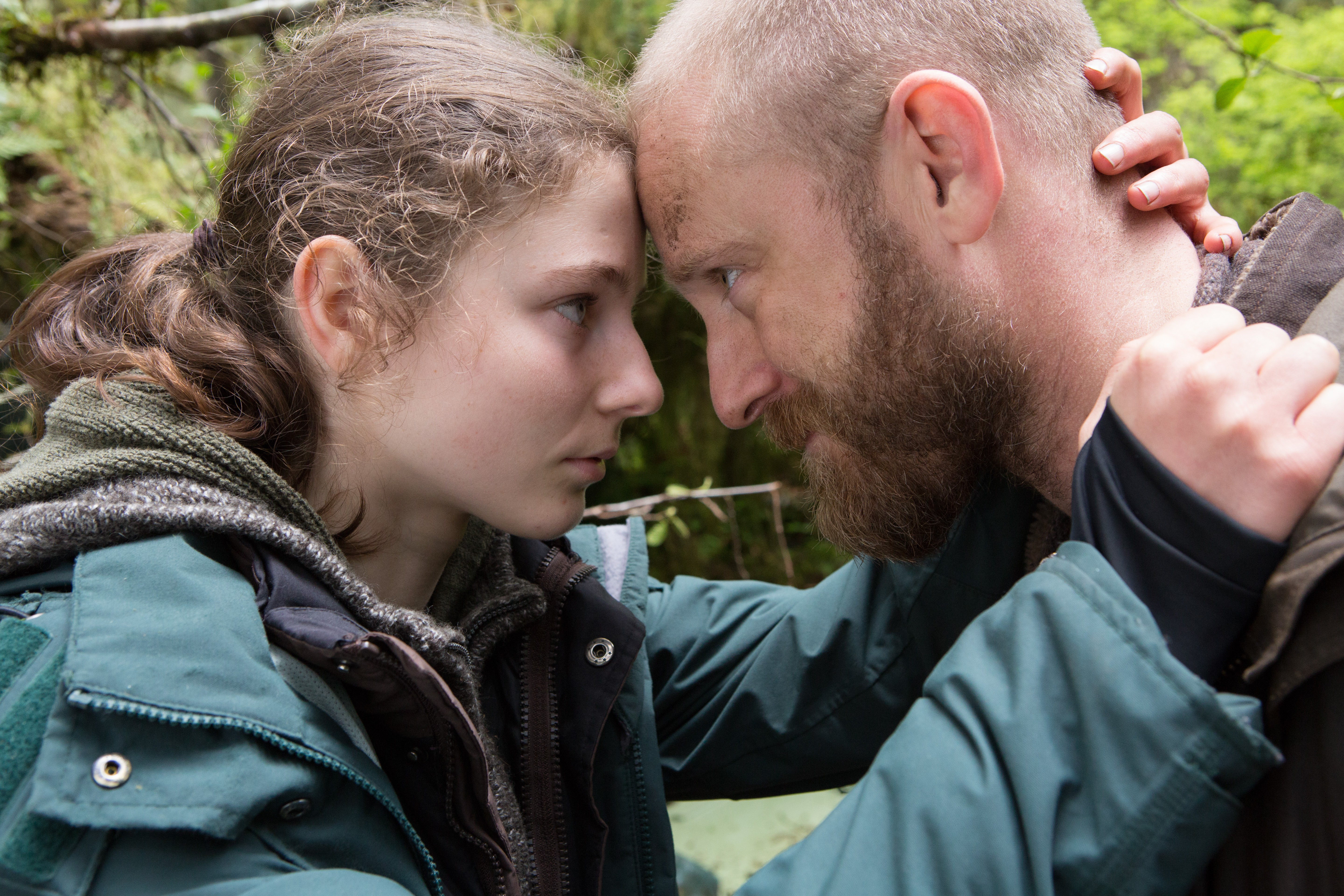 Thomasin McKenzie and Ben Foster appear in <i>Untitled Debra Granik Project</i> by Debra Granik, an official selection of the Premieres program at the 2018 Sundance Film Festival. Courtesy of Sundance Institute | photo by Scott Green. All photos are copyrighted and may be used by press only for the purpose of news or editorial coverage of Sundance Institute programs. Photos must be accompanied by a credit to the photographer and/or 'Courtesy of Sundance Institute.' Unauthorized use, alteration, reproduction or sale of logos and/or photos is strictly prohibited.