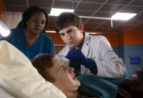 "Coby Bird and Freddie Highmore, ""The Good Doctor"""