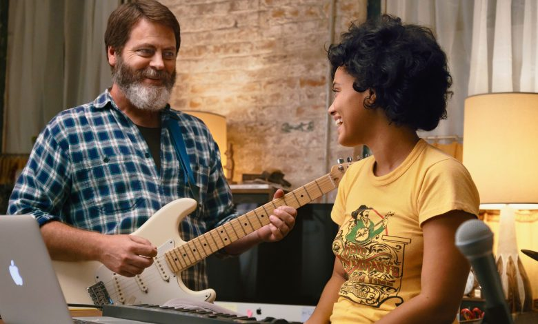 "Nick Offerman and Kiersey Clemons in ""Hearts Beat Loud"""